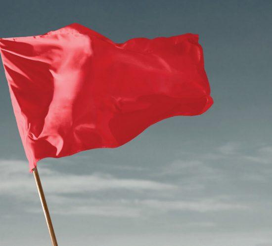 bandeira vermelha